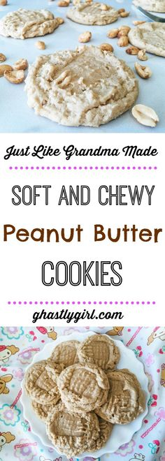 Are you looking for an awesome peanut butter cookie recipe like grandma used to make? Look no further! These soft and chewy peanut butter cookies are just what you need.