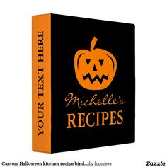 Custom Halloween kitchen recipe binder cook book