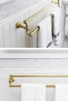 Lindsay Mens Craig Bathroom | Using a band of tile between the beadboard and molding.