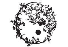Ying Yang Tree | Wall Decal - Yin Yang Ornamental