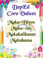 DepEd Mission, Vision and Core Values Posters Classroom Quotes, Classroom Bulletin Boards, Mission Vision, Award Certificates, Core Values, Grade 2, Corgi, Awards, March