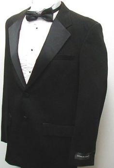 New Mens Two Button Black Tuxedo Suit - Includes Jacket and Pants New Era Factory Outlet. $79.99