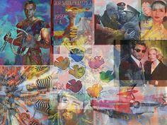 Digital desktop collage for 1959-famous people, movies, etc. from that year.