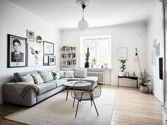 Scandinavian living room design is popular because it is suitable for different people.Look our ideas for Scandinavian living room design ideas Living Room Grey, Living Room Interior, Home Living Room, Apartment Living, Living Room Designs, Cozy Apartment, Cozy Living, Nordic Living Room, Small Living