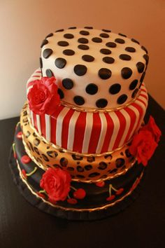 Rockabilly cake. Wedding, Birthday or for anything at all. Love this style and would be proud to create another. By Three Blind Moose Specialty cakes, Korumburra, Victoria