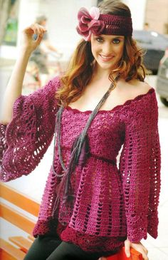 Tunica Vestido Patron - Patrones Crochet