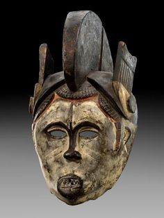 Africa | Mask from the Igbo people of Nigeria | Wood and natural pigments