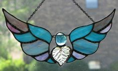 Stained Glass Angel & Wings
