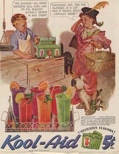 Kool Aid Drinkers Once Got Their Fix For Just A Nickle.  Those Days Are Gone!