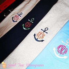 Love monograms and all things nautical...Perfect!