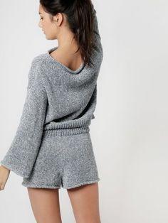Knitting Kits, Knitting Patterns Free, Knit Patterns, Knit Pants, Knit Shorts, Leggings Are Not Pants, Knitwear Fashion, Knit Fashion, Night Dress For Women