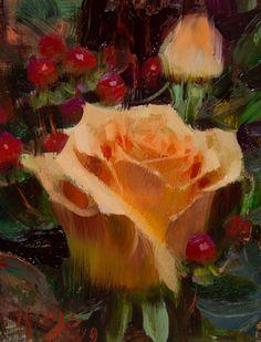 Daniel Keys, Orange Flowers, Beautiful Paintings, Peach, Gallery, Artist, Painted Flowers, Inspiration, Oil Paintings