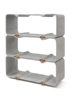 Basso Shelf System - policový systém navržený Thomasem Feichtnerem. Vyrobený z vláknitého cementu.