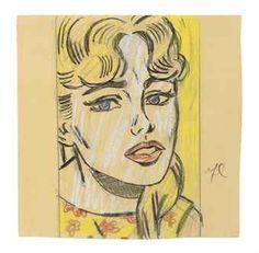 Roy Lichtenstein (1923-1997) Anxious Girl (Study)