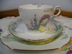 SHELLEY ARCHWAY OF ROSES TRIO CUP PLATE SAUCER