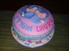 Gâteau d'anniversaire jumeaux 1 an