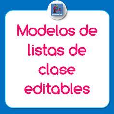 Modelos de listas de clase para descargar - Familia y Cole