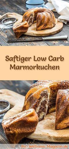 Rezept für einen saftigen Low Carb Marmorkuchen : Der kohlenhydratarme, kalorienreduzierte Kuchen wird ohne Zucker und Getreidemehl zubereitet ...