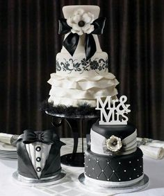 My wedding cakes...made by Homestyle Bakery.