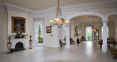 The White Ballroom in the Nottoway Plantation Mansion  on the Great River Road near New Orleans.