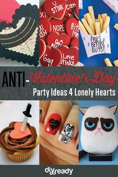 Anti Valentines Day Party Ideas | How To Throw The Ultimate Anti Valentines Day Party! by DIY Ready at http://diyready.com/anti-valentines-day-party-ideas/