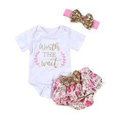 online shopping for HOTUEEN Toddler Baby Girl Casual O Neck Sequin Button Bowknot Romper Pants Outfit Set Active Sets from top store. See new offer for HOTUEEN Toddler Baby Girl Casual O Neck Sequin Button Bowknot Romper Pants Outfit Set Active Sets Baby Girl Pants, Baby Girl Romper, Baby Girls, Baby Boy, Short Outfits, Boy Outfits, Pant Romper Outfit, Baby Girl Letters, Baby & Toddler Clothing