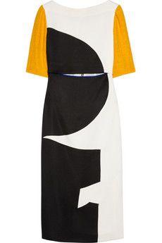 ROKSANDA ILINCIC  Brandt paneled crepe and gazar dress