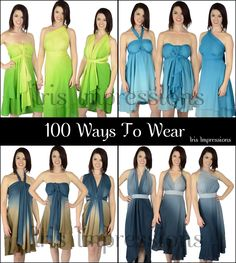 Perfect Getaway Ombre Convertible Magic Wrap Skirts. 100 ways to wear