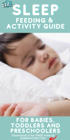 Baby | Toddler | Pre-school | Sleep Feeding and | Activity Guide| A handy guide to help parents meet their child's sleep, eat and play needs at months: 0-3, 4-6, 7-11 and years: 1-2, 3-5