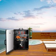Electric Smoker 800W Bbq Smoker Cabinet for Outdoor Barbecue Hot ...
