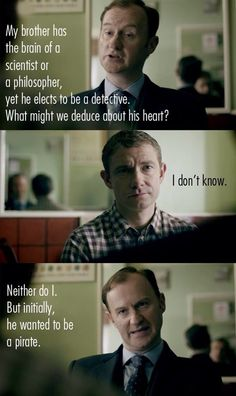 #Sherlock you can reduce that he cares about people!!!