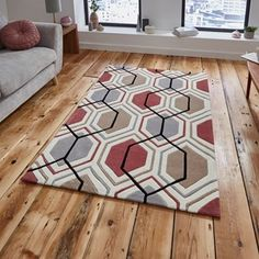 Hong Kong HK 7526 Rugs in Grey Yellow - Free UK Delivery - The Rug Seller
