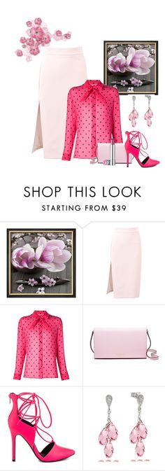 """Untitled #3057"" by empathetic ❤ liked on Polyvore featuring MSGM, Yves Saint Laurent, Kate Spade and Liliana"