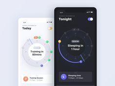 App design for exercise timeline App-Design für die Übungszeitleiste Timeline App, App Design, Mobile Design, Progress Bar, Daily Ui, Mobile App Ui, Health Challenge, Challenge Ideas, Online Blog