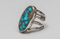 Abstract silver ring with turquoise. Silver Jewellery, Jewelery, Silver Rings, Turquoise Bracelet, Abstract, Bracelets, Handmade, Design, Stone Rings