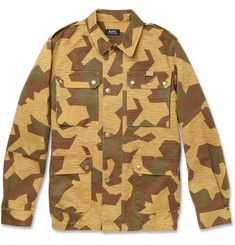 A.P.C.Camouflage-Print Cotton Field Jacket