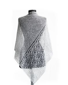 Ravelry: Fugra Shawl pattern by Daria Sorokina Knit Wrap Pattern, Lace Knitting Patterns, Shawl Patterns, Knitting Designs, Knitted Poncho, Knitted Shawls, Crochet Shawl, Knitting Dolls Clothes, Knitting Socks