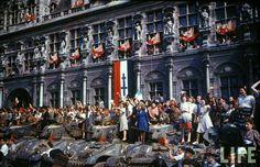 Colour photographs of Paris after Liberation, August 1944