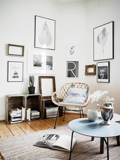 Eclectic scandinavian boho. Via What a wonderful home