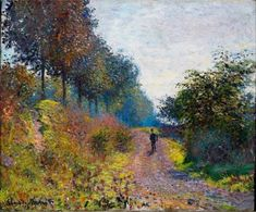 "Art Pics Channel on Twitter: ""Claude Monet The Sheltered Path 1873 https://t.co/yJnnJQbqxn"""