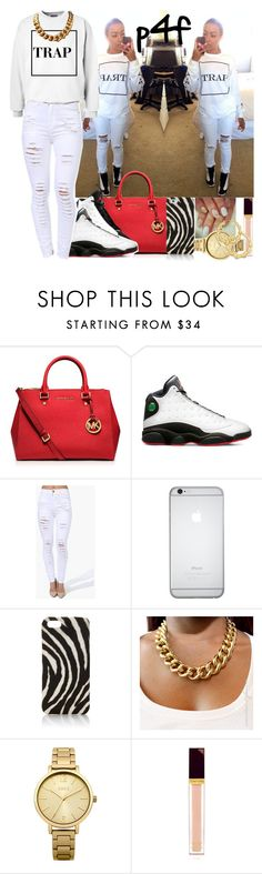 """""""Passion 4Fashion: Trap'n"""" by shygurl1 ❤ liked on Polyvore featuring MICHAEL Michael Kors, NIKE, Hanes, The Case Factory, Oasis, Tom Ford and Thalia Sodi"""