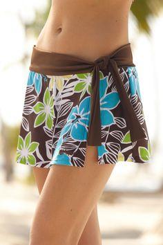 Sarong Skirt with Swim Bottoms - Kona | Hapari