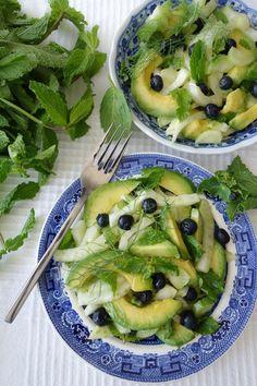 Fennel, Mint and Avocado Summer Salad (Nut-Free, Paleo, AIP) - Zesty Paleo