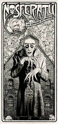 Nosferatu movie poster by Chris Weston (British, http://chrisweston.co.uk/)