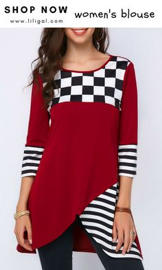 Beautiful tops red blouses, blouses for women, shirt blouses, Stylish Tops For Girls, Trendy Tops For Women, Blouses For Women, Red Blouses, Shirt Blouses, Beautiful Blouses, Red Fashion, Latest Fashion, Fashion Trends