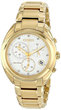 Citizen Eco-Drive Women's FB1392-58A Celestial Analog Display Gold Watch * Details can be found by clicking on the image.