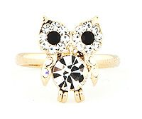 Crystal Owl Ring.