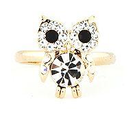 Crystal Owl Ring.