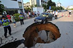 Sinkholes around the world - in pictures