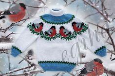 """Sweater """"Bullfinches en la nieve"""" de los niños"""